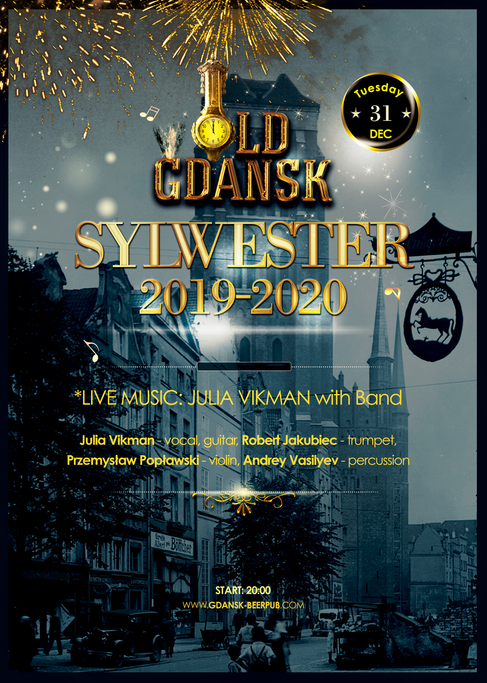 Old Gdansk New Years Eve 2019